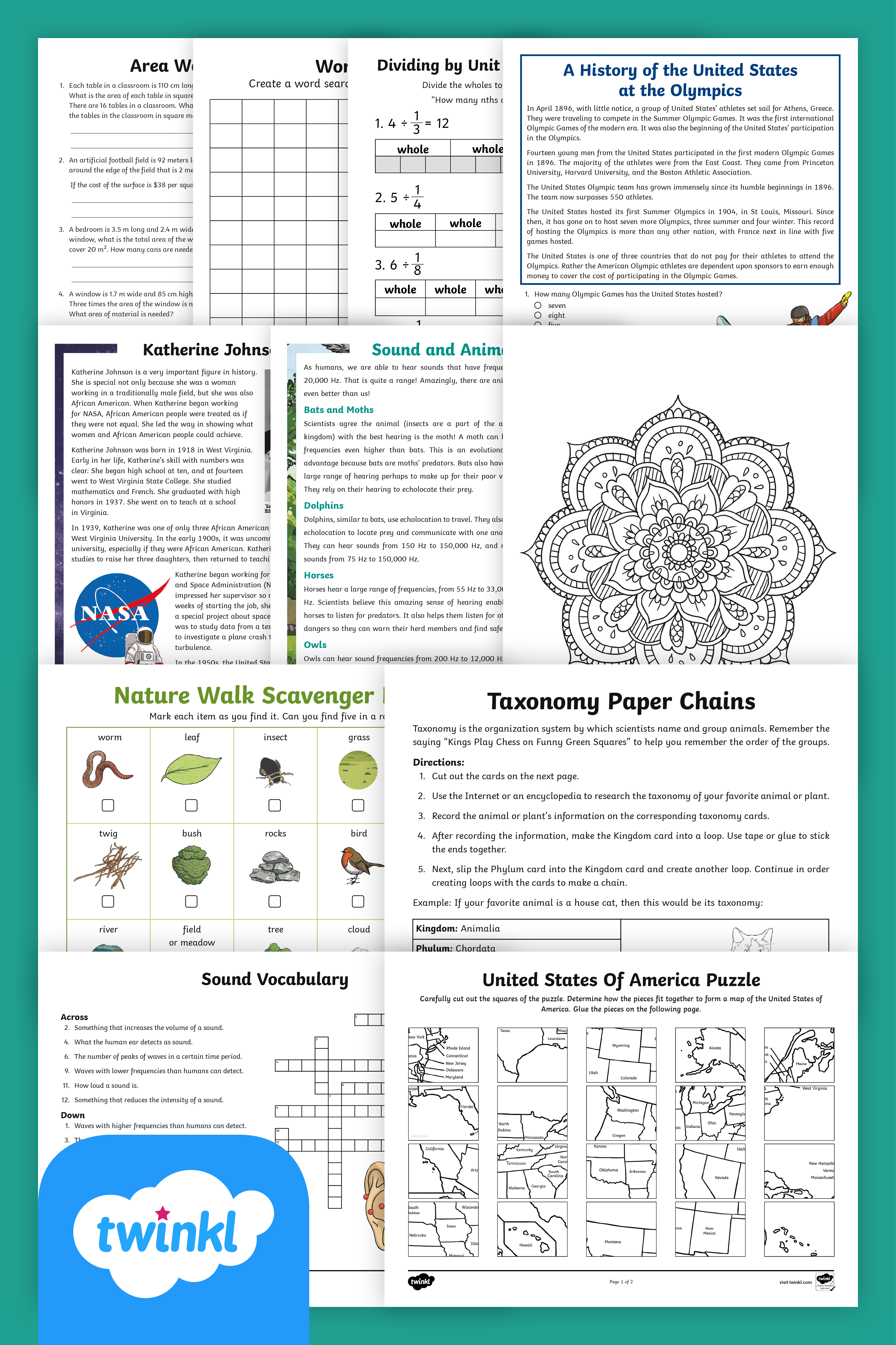 Print And Distribute This Take Home Packet Of Engaging 5th