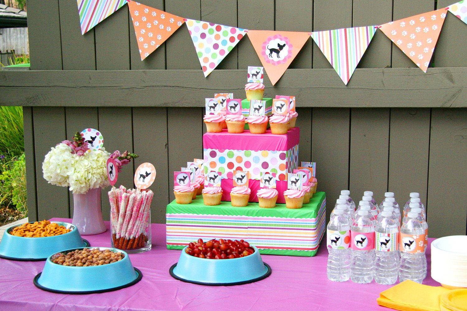Dog Birthday Party Baby Shower Decorations Puppy Pawty BeeAndDaisy