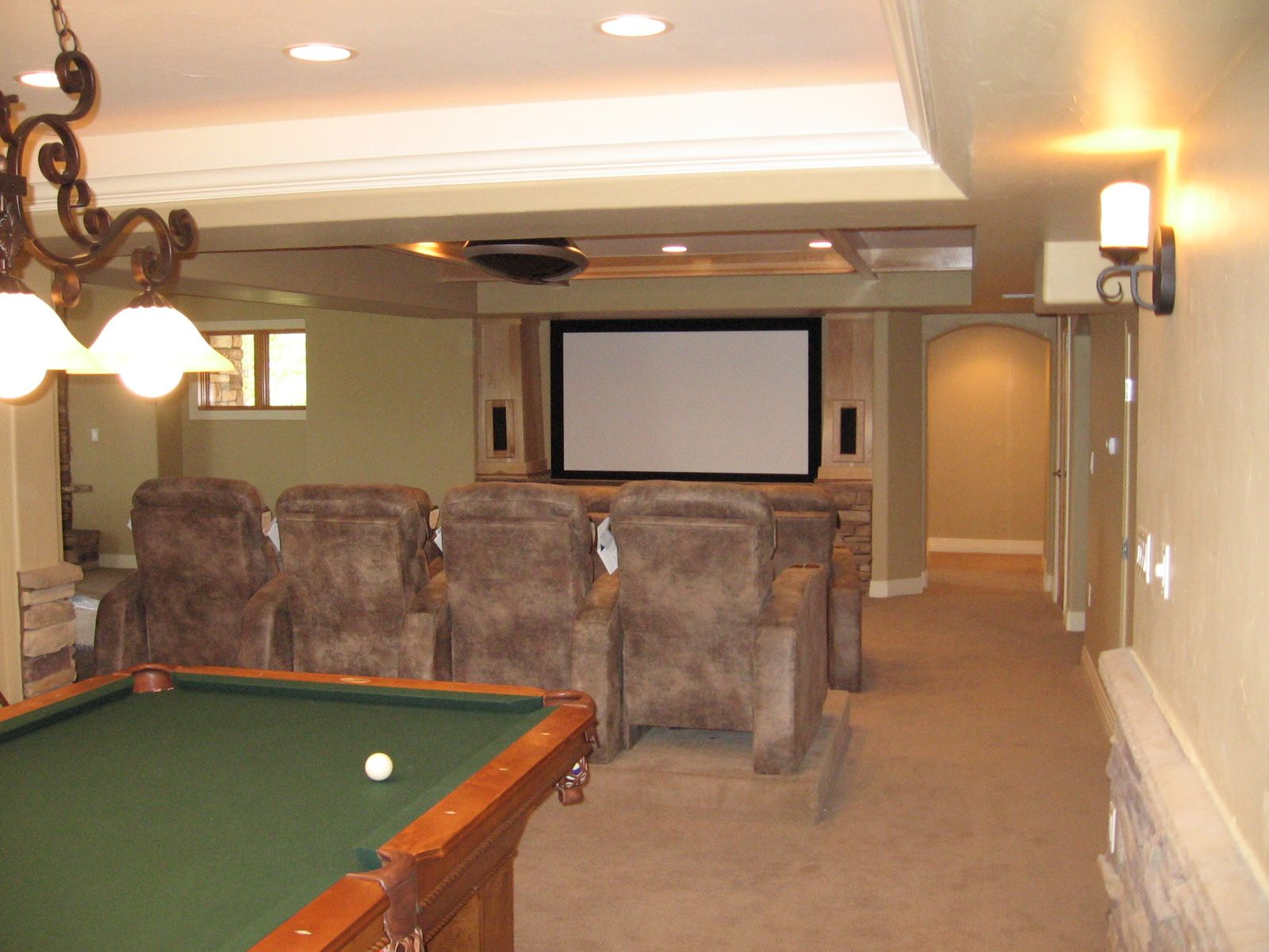 Finished basement ideas basement design basement for Finished basement designs