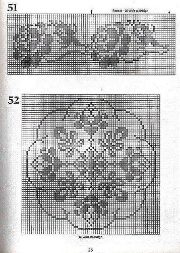 101 Filet Crochet Charts 35 | nidaanida | Pinterest | Häkeln ...