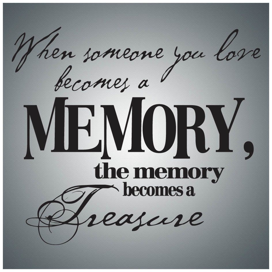Love Laughter Wall Decal Art - When Someone You Love Becomes A Memory...Wall Quote Decal Vinyl Lettering Saying - PW007
