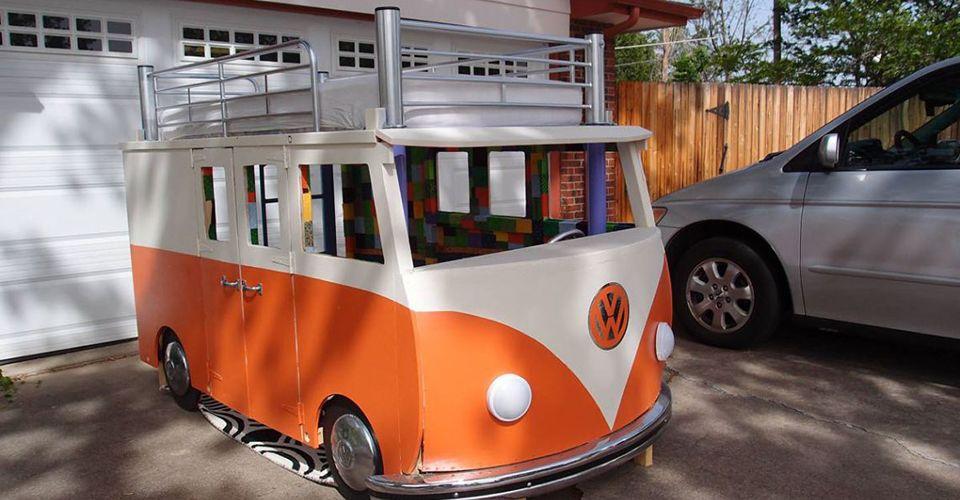 Etagenbett Kinder Bus : Diy u ein vw bus bulli hochbett selber bauen ideen rund ums