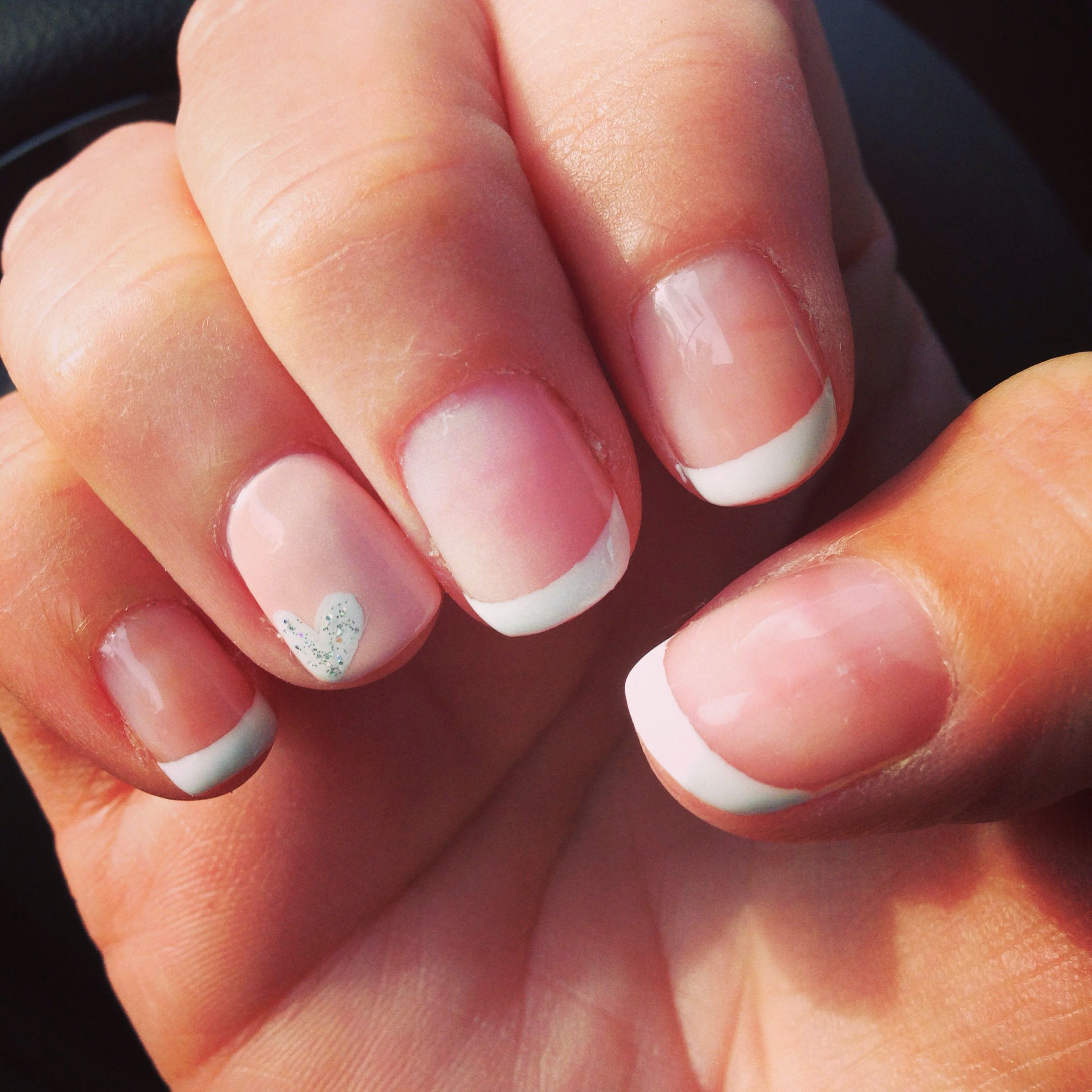 french manicure with pinkish tan