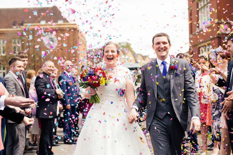 Clare Khaled Multicoloured Vibrant Wedding At Bedford School