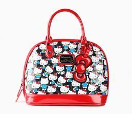 Hello Kitty Embossed Handbag  Black Vintage  13228e926c814