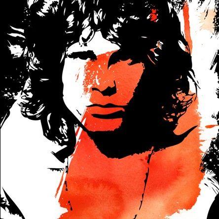 JIM MORRISON Pop Art Style Red Orange Black By Mediagraffitistudio