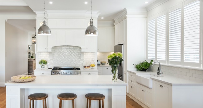 Our hamptons style kitchen is built by alby turner and son for Alby turner kitchen designs