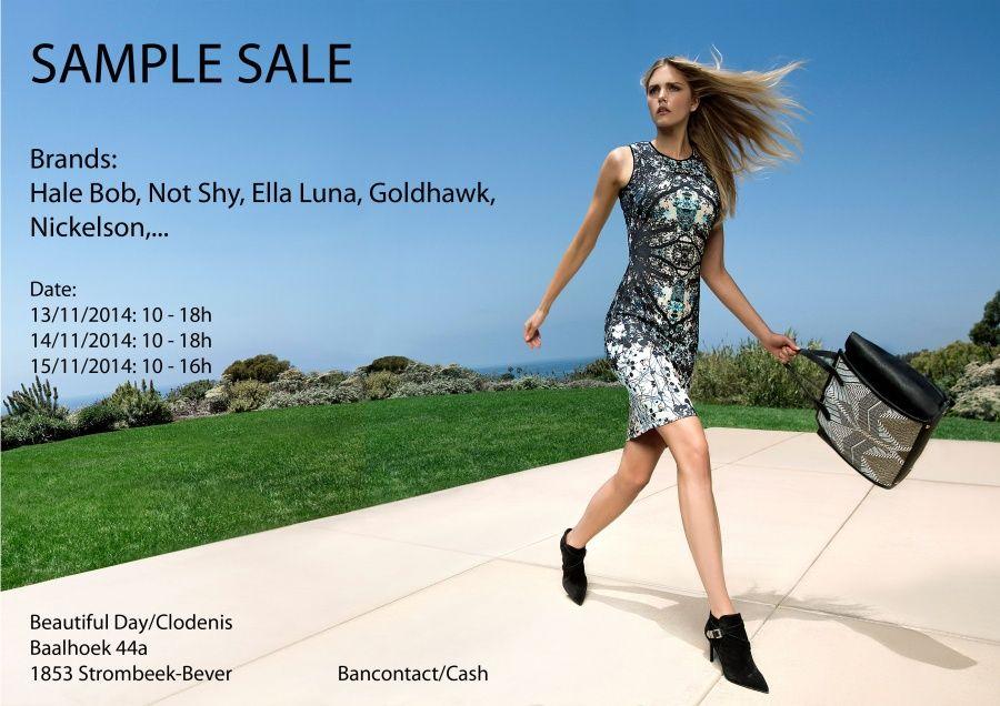 Sample sale Beautifulday /  Clodenis -- Strombeek-bever -- 13/11-15/11