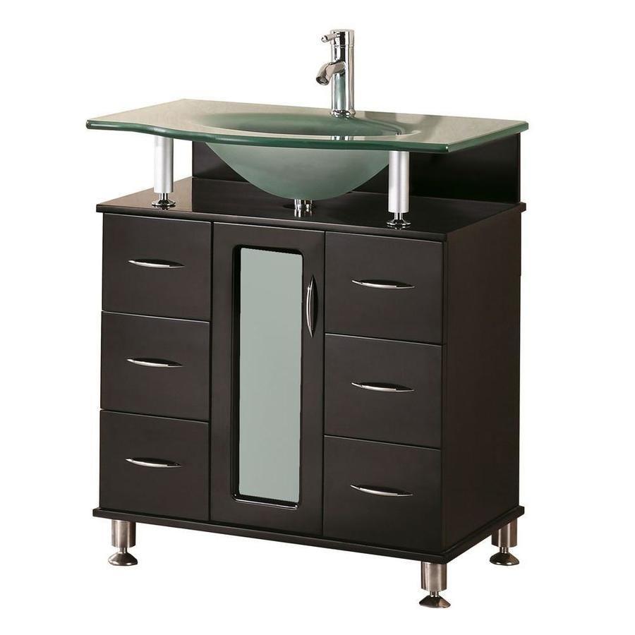 799 00 Lowes Design Element Huntington 30 In Espresso Single Sink