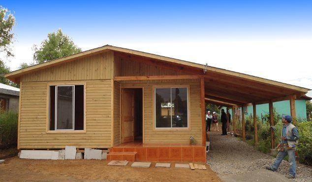 Una linda casa de madera prefabricada simple de construir - Casa de madera prefabricadas ...