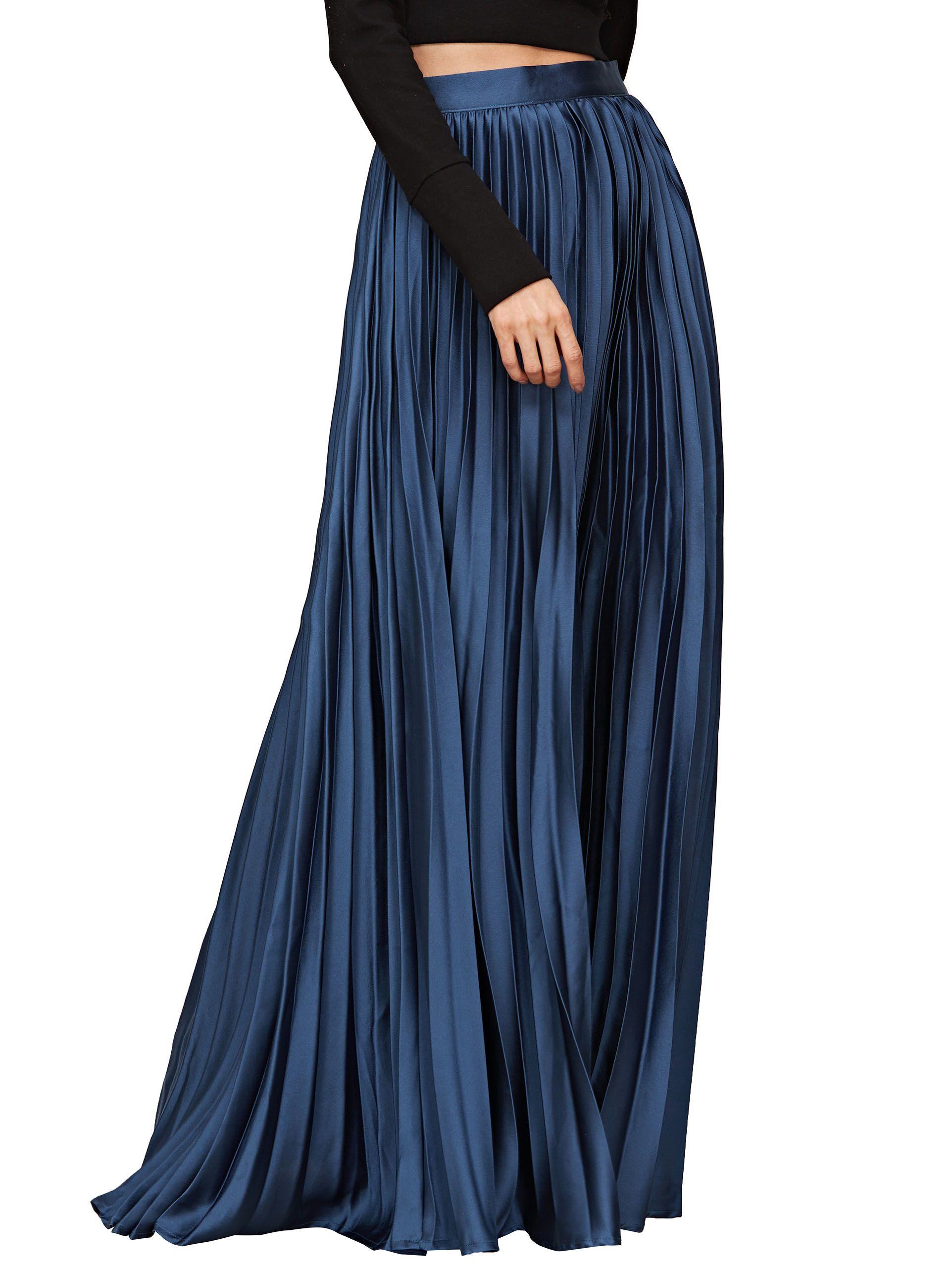 19126a7b965f00 Full Length Pleated Maxi Skirt – DACC