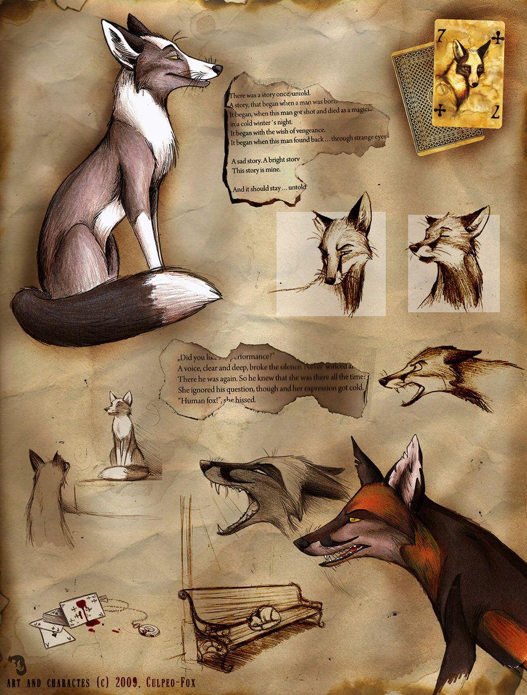 Fragments by culpeo fox deviantart com on deviantart fox art book