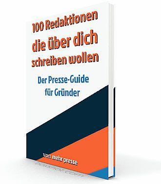 100 Redaktionen und Journalisten in Deutschland, die jeder Gründer kennen sollte. Das ist dein erster Schritt zu einer nachhaltigen Pressearbeit.