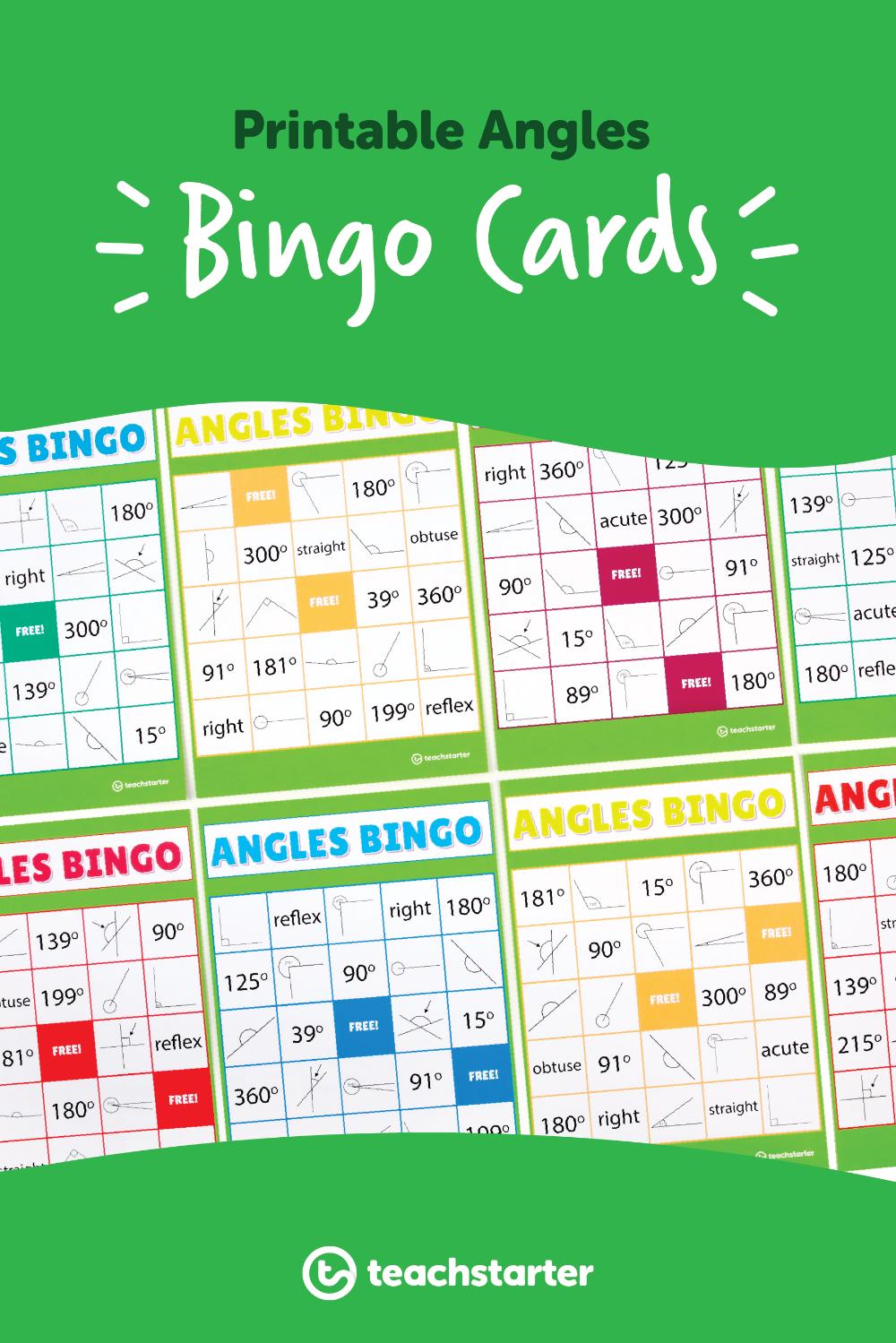 Angles Bingo Teaching Resource Teaching, Teaching math