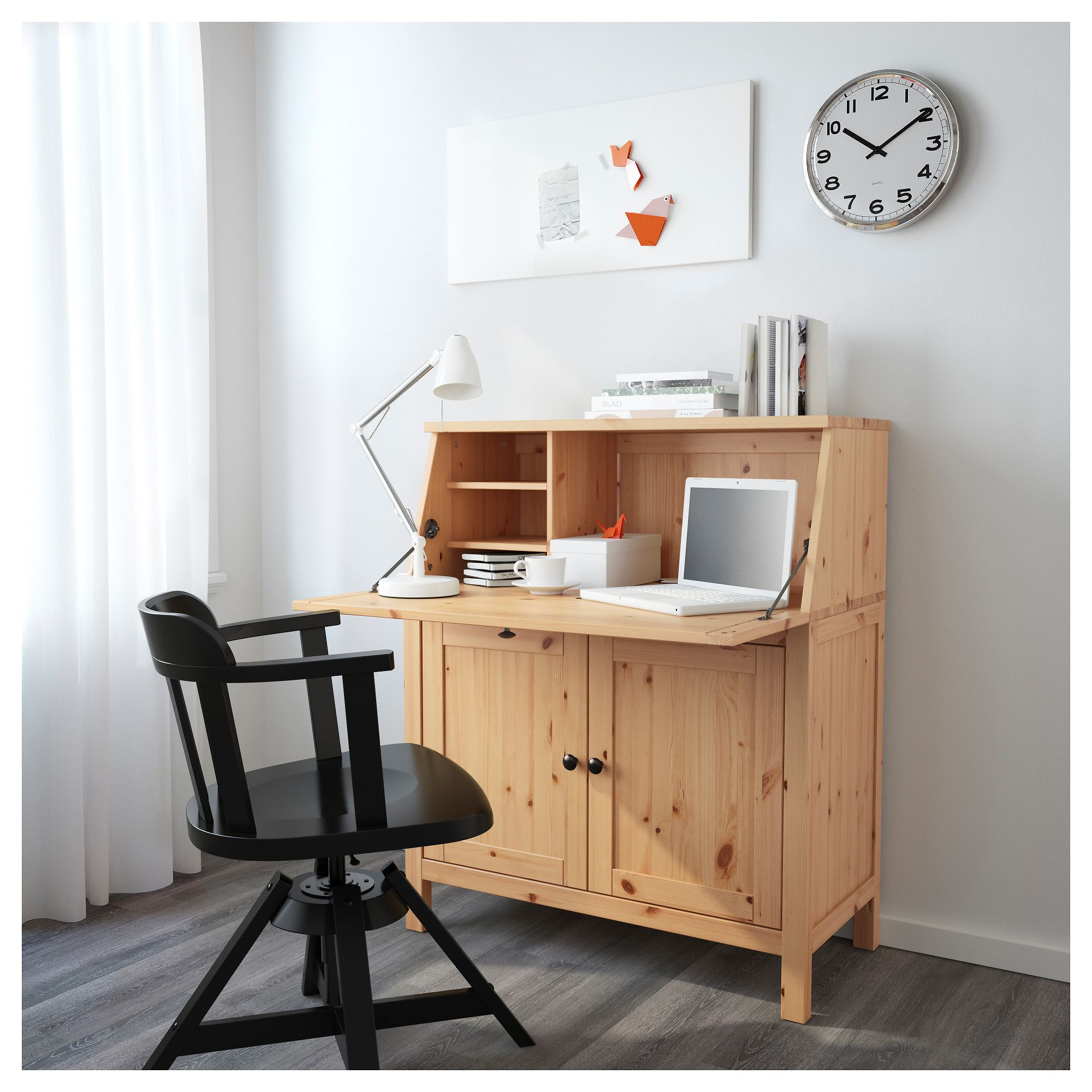 Hemnes Secretary Light Brown Ikea Home Office Furniture Ikea Secretary Desk Ikea Writing Desk