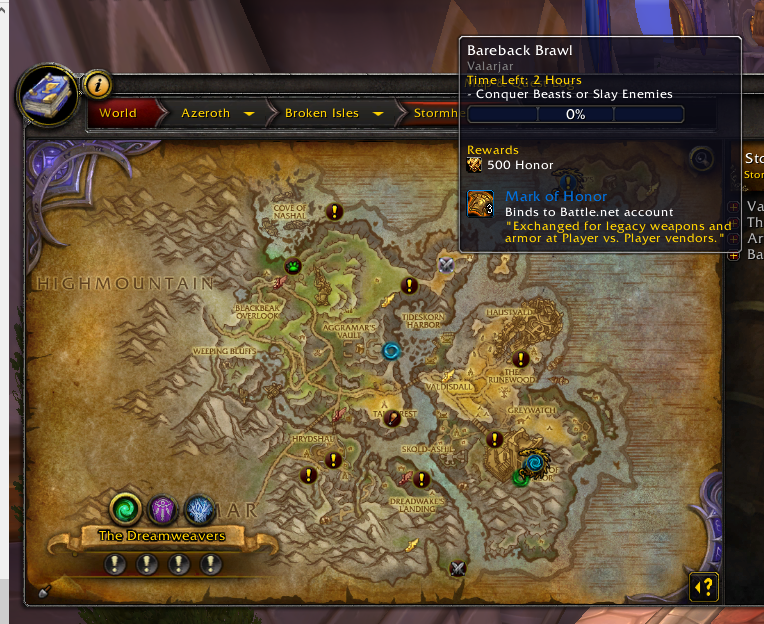 Some World Pvp Quests Rewards Mark Of Honor On 715