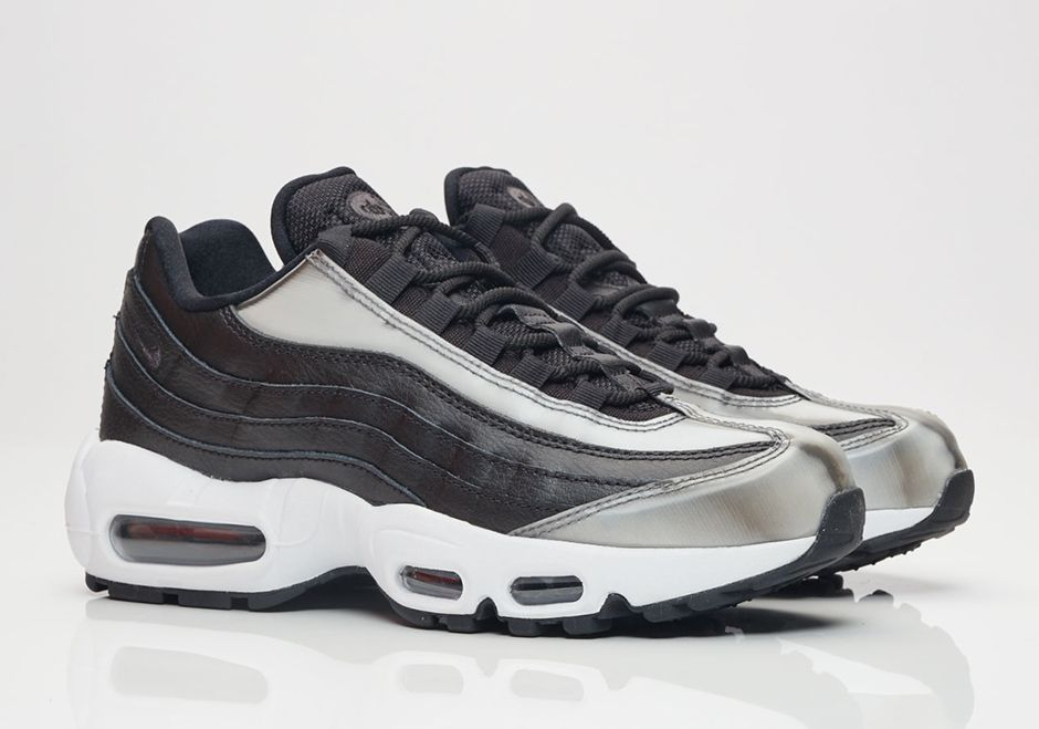 """93a35fb303  sneakers  news The Nike Air Max 95 """"Brushed Metal"""" Is Now Available In  Women s Sizes Only"""