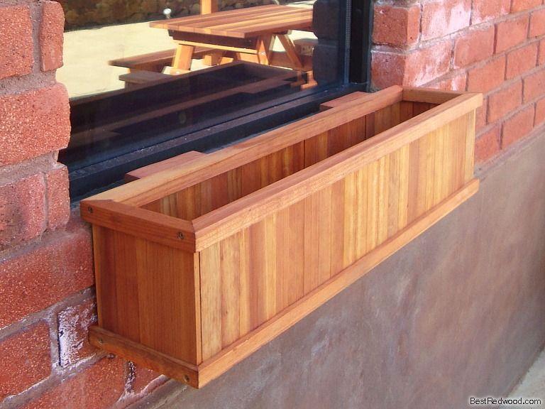 wooden window planter boxes window planter box - Window Box Planters