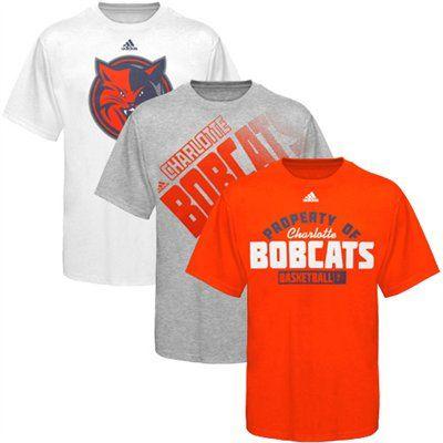 best loved 81226 68959 adidas Charlotte Bobcats Orange-Ash-White Triple Threat T ...