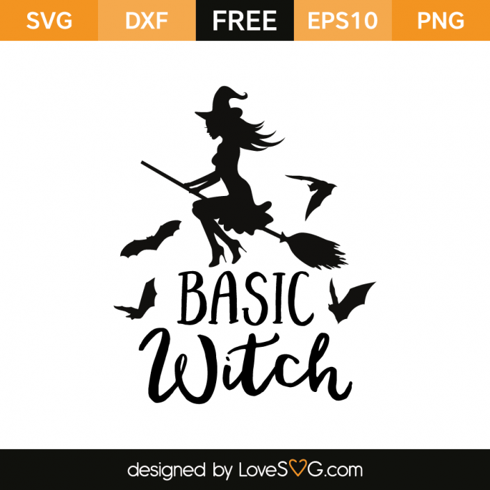 Basic Witch Halloween silhouettes, Halloween wishes