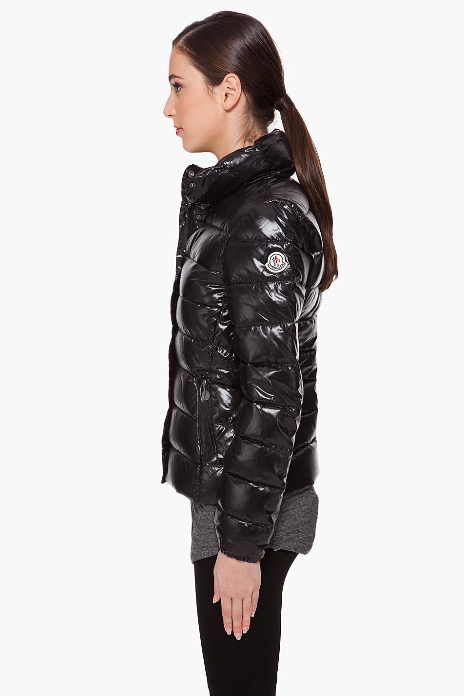 "Black Moncler ""Clairy"" down jacket – SHINY NYLON  e468f9591"