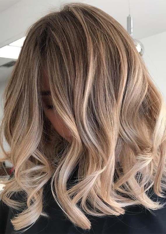 Erstaunliche Farbtöne Balayage Ombre Haar im Jahr 2019 #balayage #erstau ......