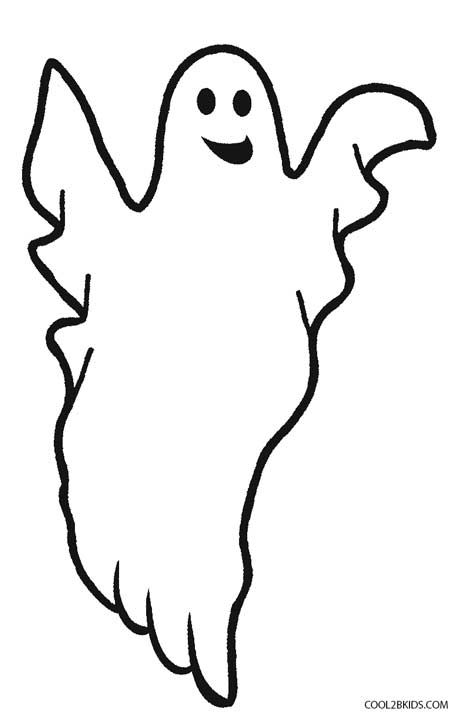 Printable Ghost Coloring Pages For Kids Cool2bkids Easy Ghost Coloring Page