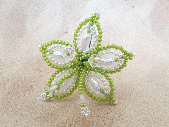 Horquilla Tembleque de flores flor blanca pelo por QXPShop
