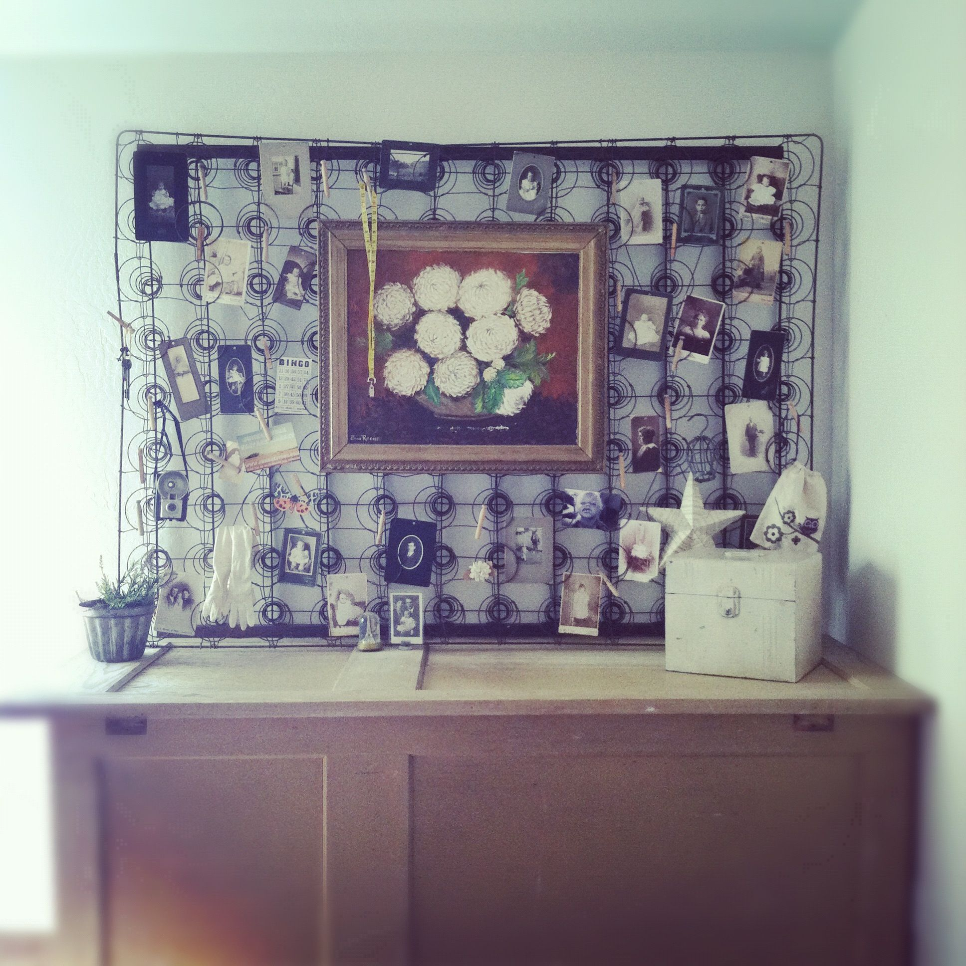 Bed Spring display ... | The Mouse House | Pinterest