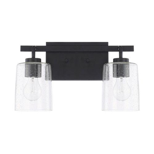 Photo of Capital Lighting 128521MB-449 Greyson 2 Light Bathroom Light, Matte Black