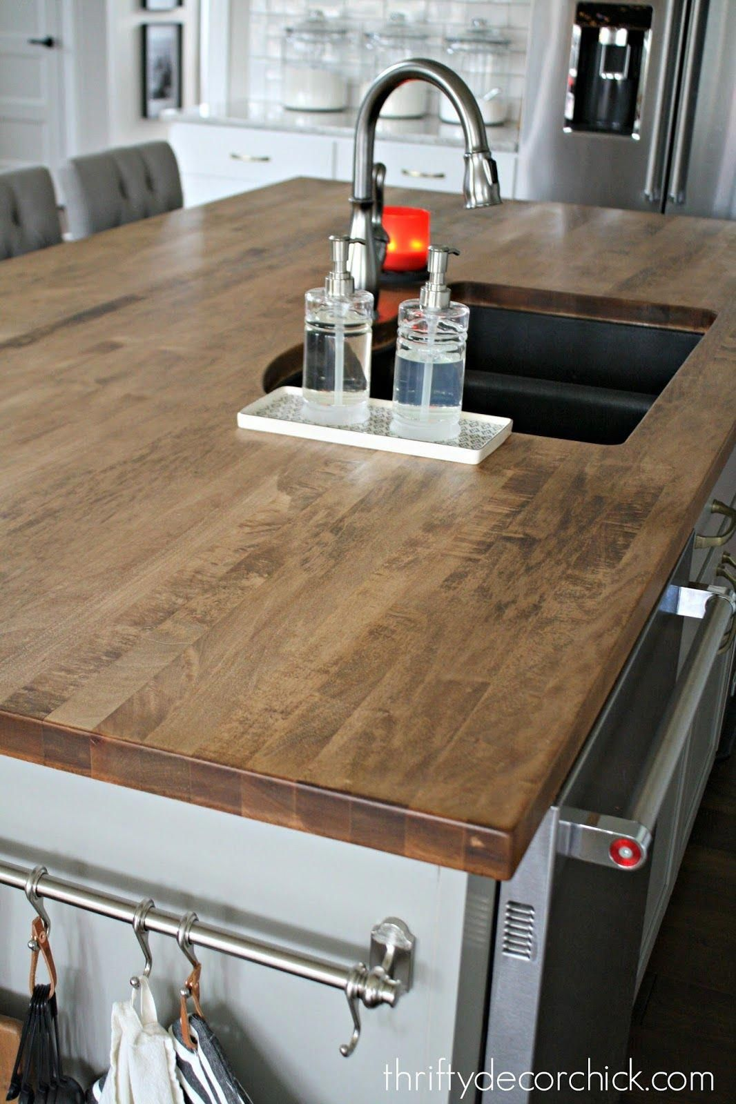 Staining And Sealing A Wood Countertop Kitchencabinetswhite
