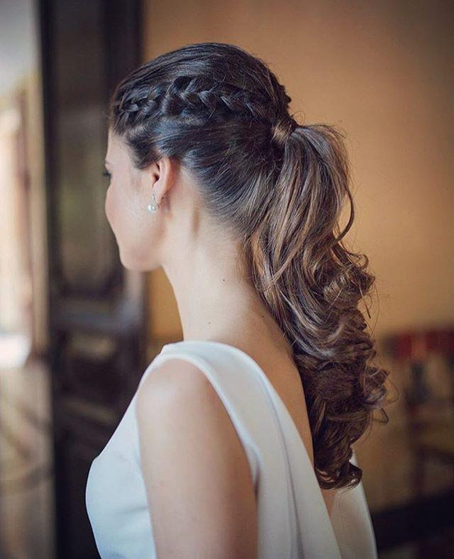coleta y trenzas para un peinado elegante y actual peinados novia