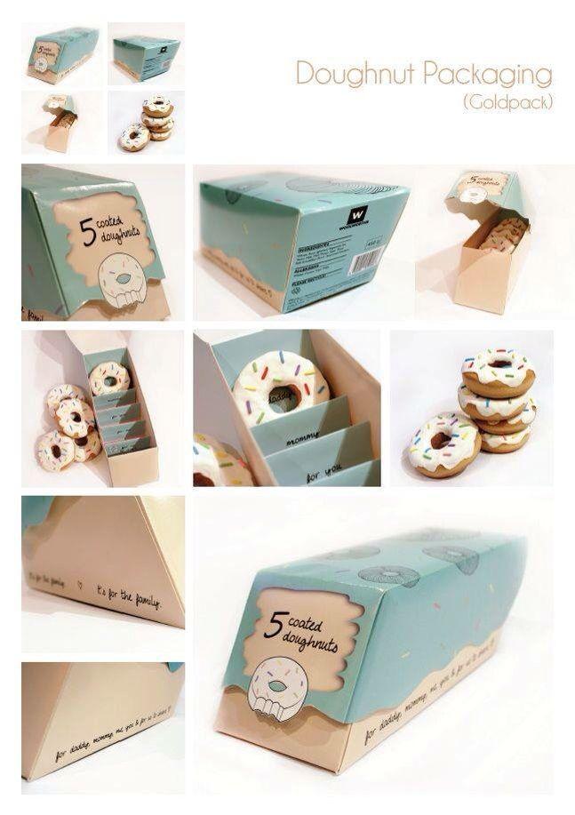 620decbff42b Caja para donas | Caja | Empaque genial, Diseño de envases y Empaques