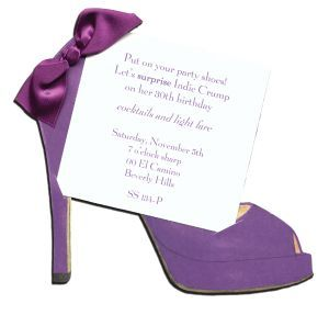 Purple High Heel Invitation Cards and Craft