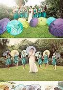 peacock parasols