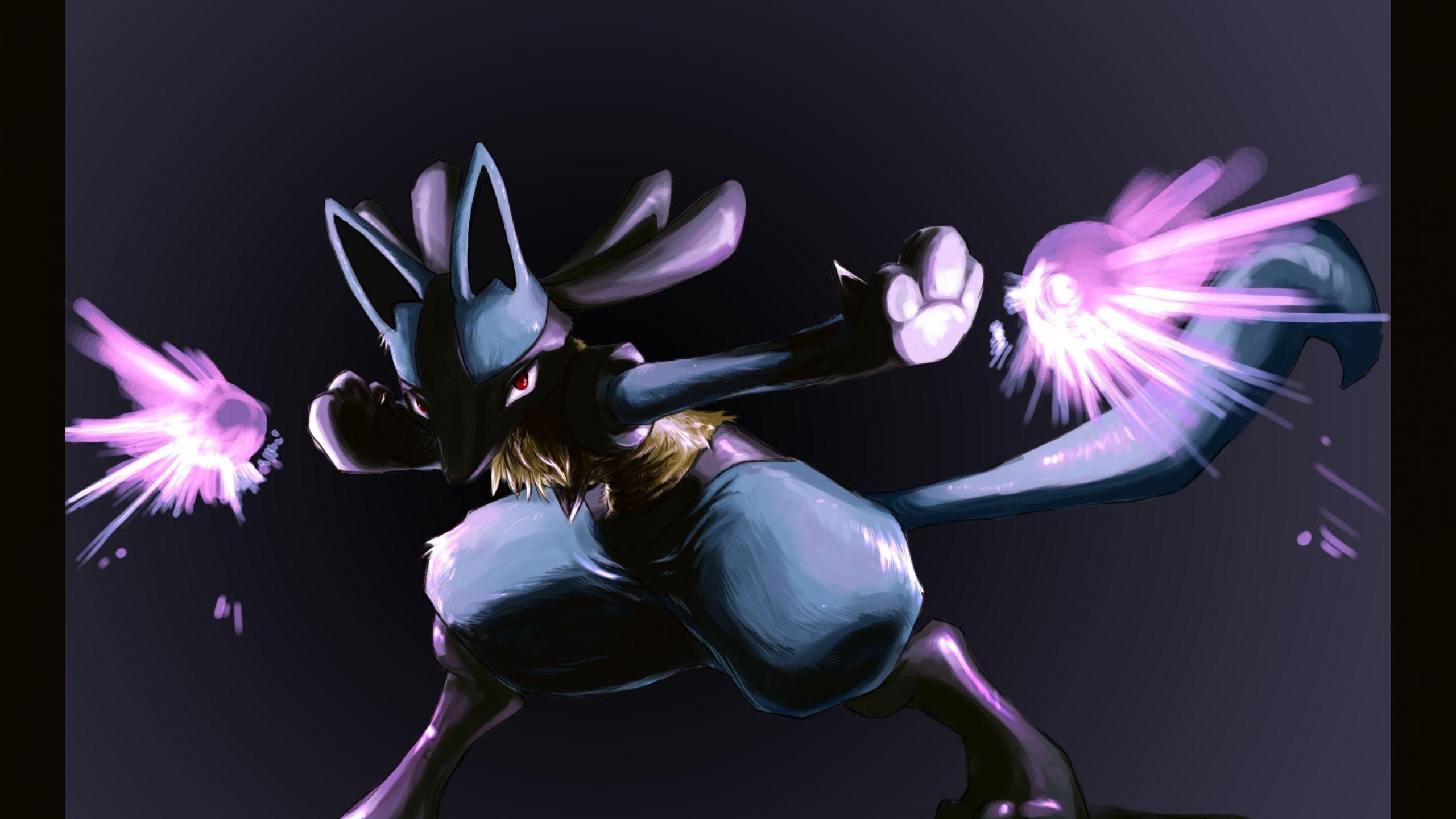 Lucario 2560 1440 Pokemon Pokemon Art Fantasy Art