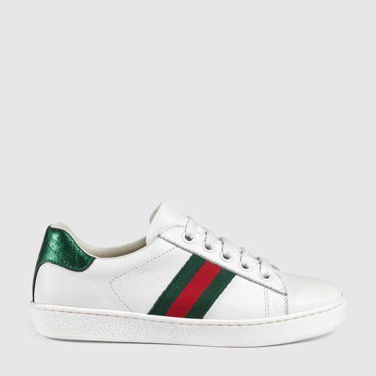 Gucci Children's Ace leather sneaker