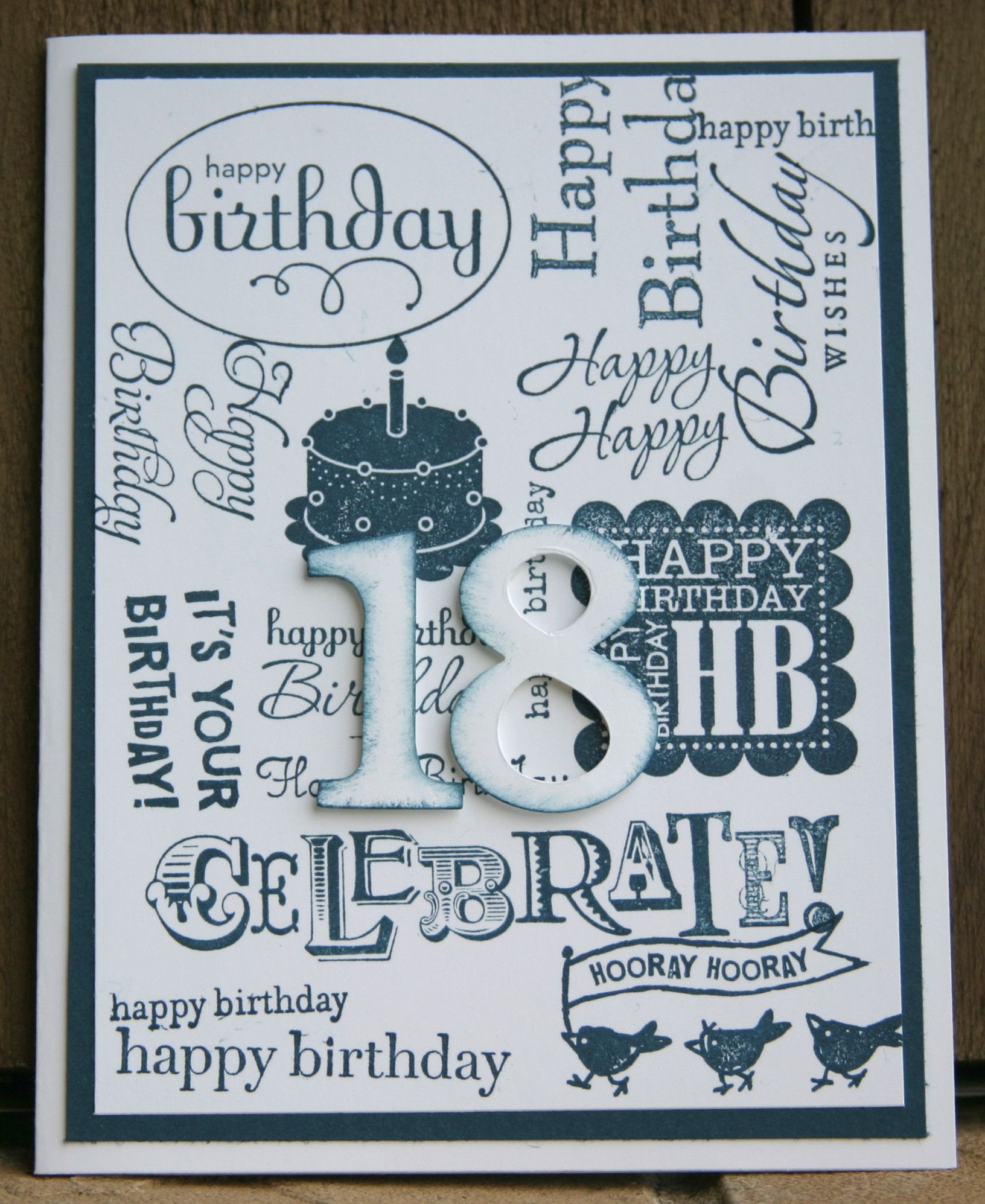 Stampin Up 18Th Birthday Cards