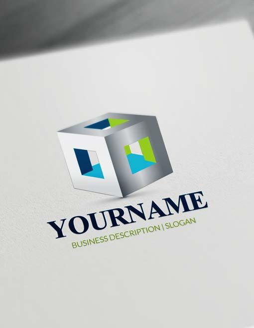 Free 3D Logo Maker Modern 3D Cube Logo Creator Online