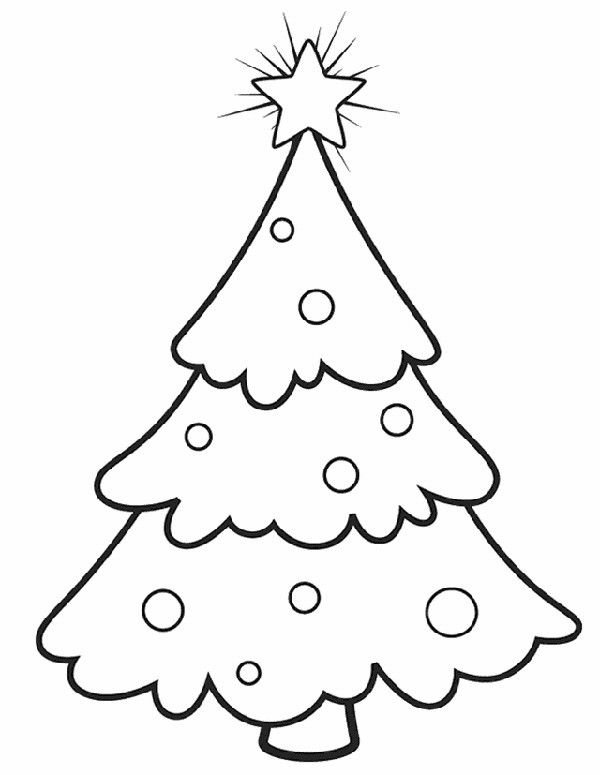 Have A Very Crafty Chic Christmas Christmas Tree Coloring Page