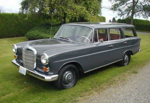1966 mercedes benz 230 fintail heckflosse w111 station for Mercedes benz station wagon