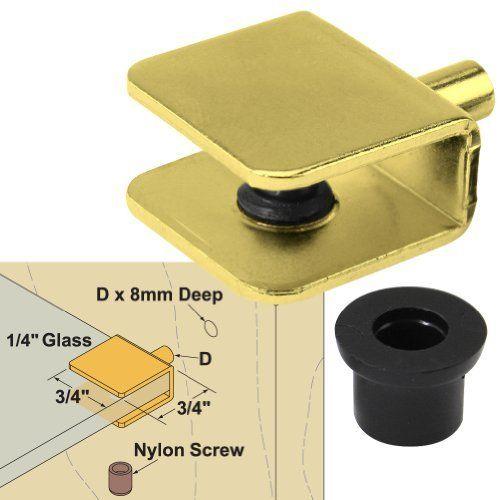 Small Shelf Bracket Glass Shelf Support 5-8mm thickness Shelves Pack of 1