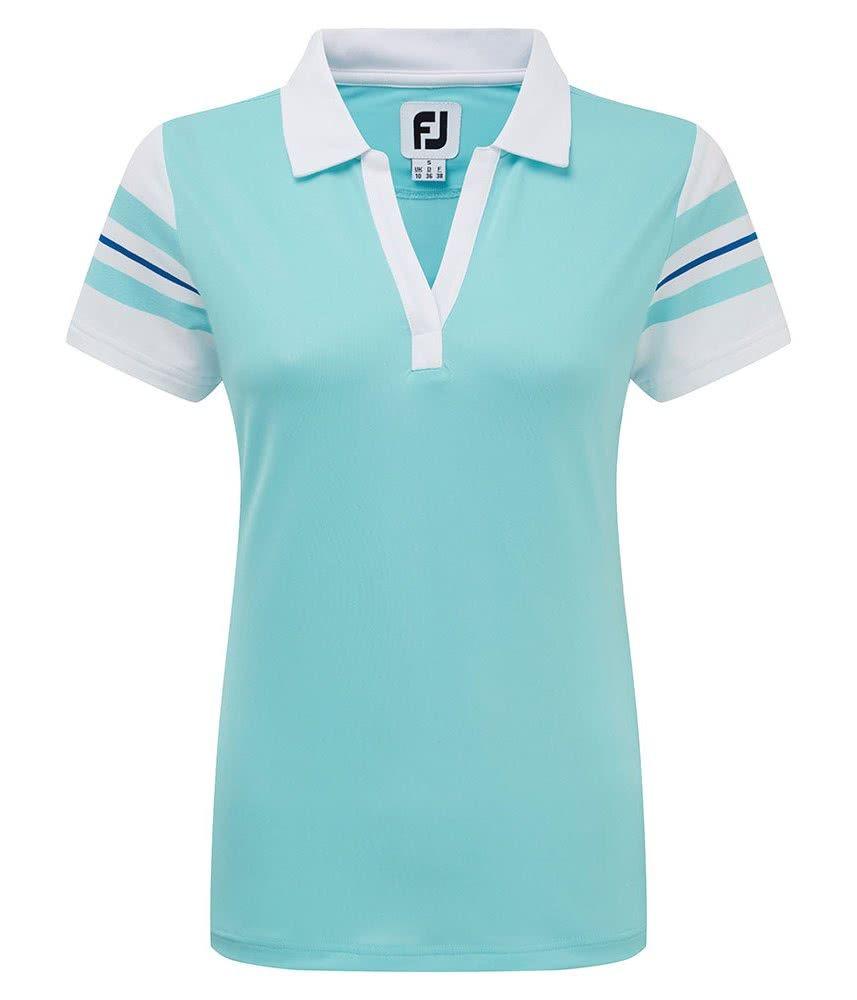 40960f2f FootJoy Ladies Baby Pique Sleeve Stripe Shirt - Golfonline | FootJoy ...