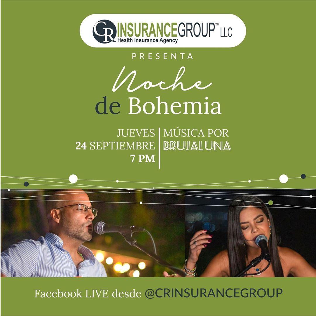 """¿Están listos para nuestra """"Noche de Bohemia"""" con @brujaluna_duo Comienza en dos horas… a las 7pm. ¡No se lo pierdan! . #crinsurancegroup #SanJuan #PuertoRico #agenciadeseguros #Insurance #InsuranceAgent #musicapr #musicalive #acantar #nochedebohemia #puertorcomusica #brujalunaduo #crmusica #bohemia #laisladelencanto #boricua #puertoricolohacemejor #musicaenvivo"""