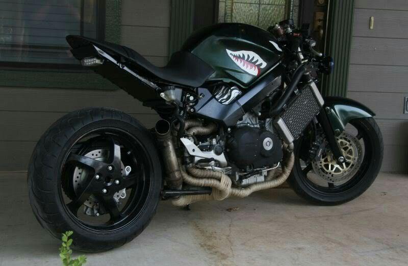 Streetfighter Custom Bike Honda Vfr 750 - YouTube