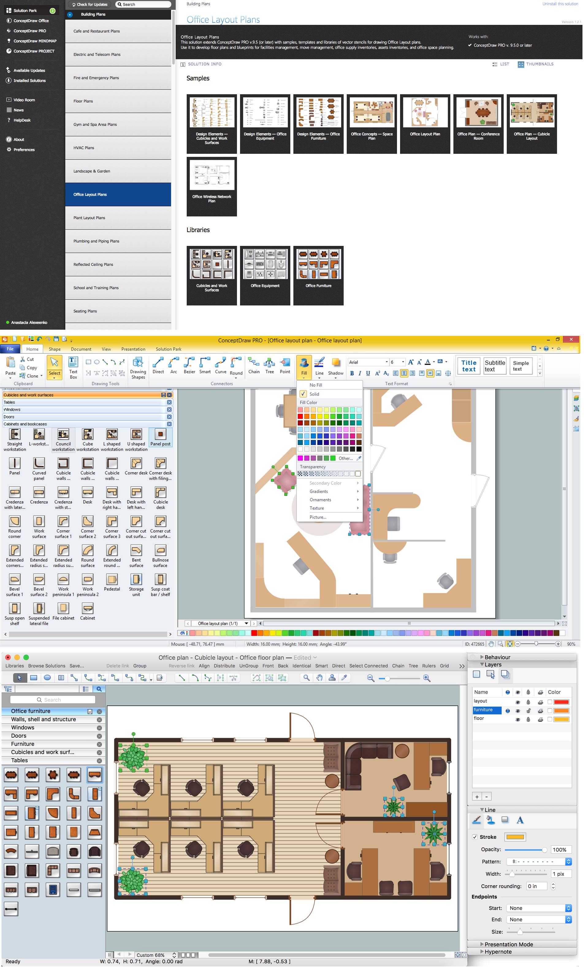 office plan software. Office Layout Plan Help: \ Software A