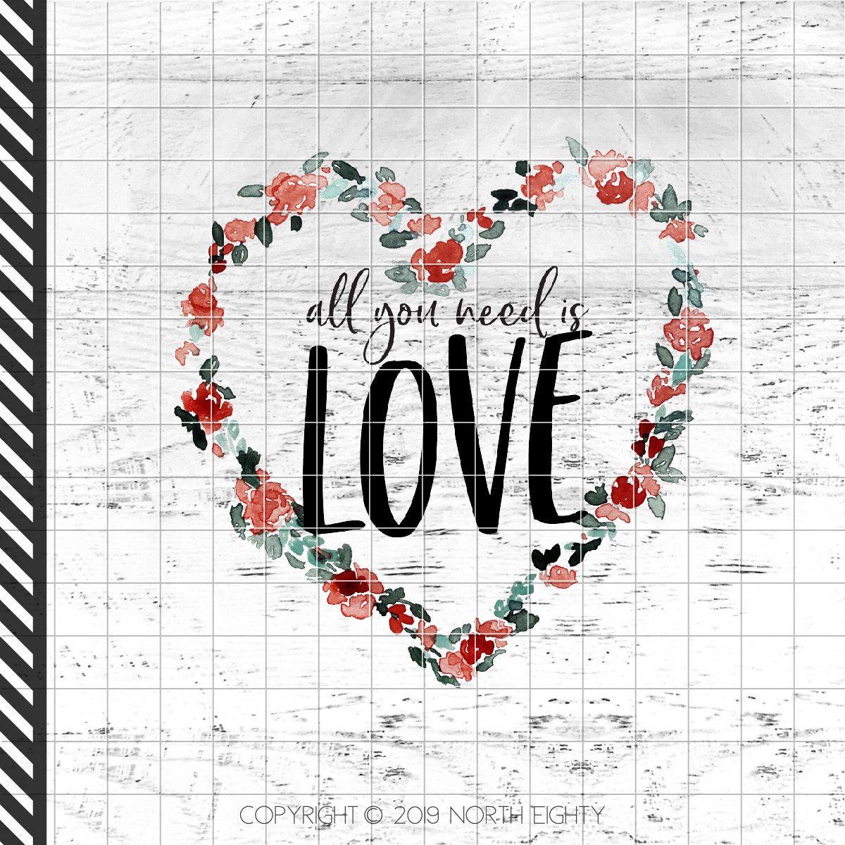 Valentine Sublimation Design Download All You Need Is Love Etsy In 2020 All You Need Is Love Love Png Digital Clip Art