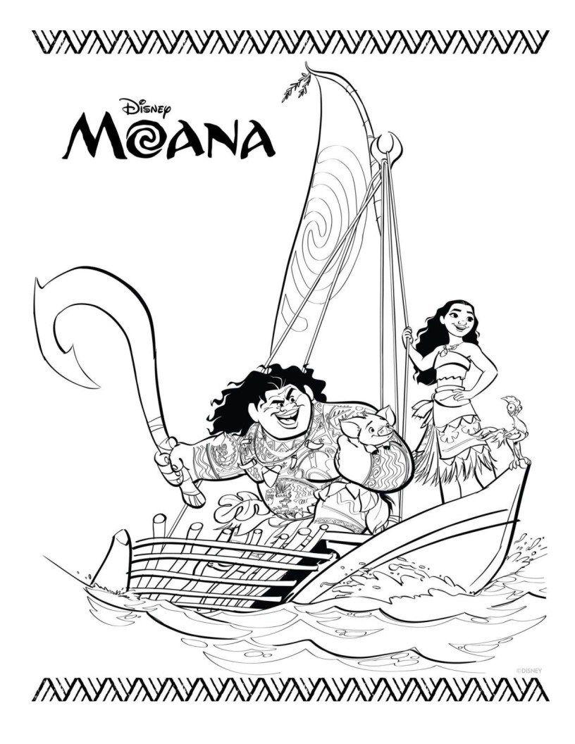 Moana - Paginas Para Imprimir y Colorear | Moana, Manualidades and Craft