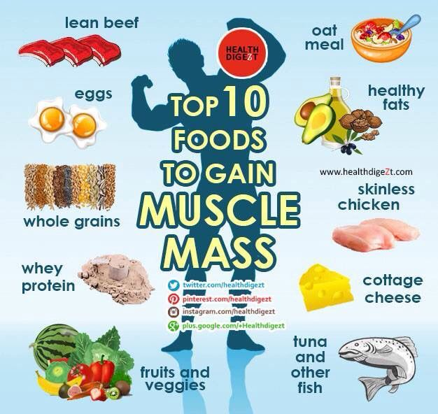 Top 10 Foods To Help You Gain Muscle Mass