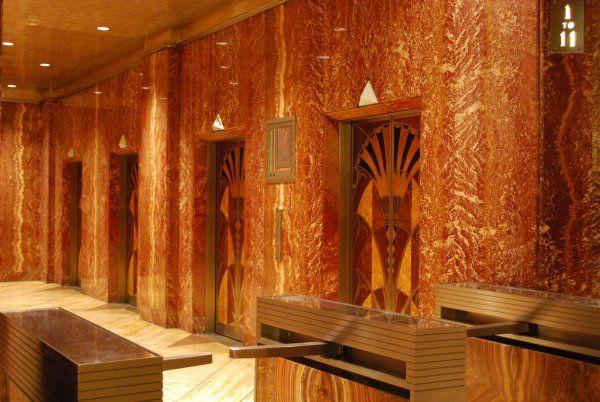 Interior Of The Chrysler Building Egyptian Inspired